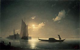 Gondolier at Sea by Night | Aivazovsky | Painting Reproduction