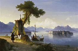 Isola Bella on Lake Maggiore, 1843 by Aivazovsky | Painting Reproduction