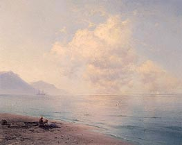 Clouds over a Calm Sea, 1891 by Aivazovsky | Painting Reproduction