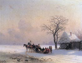 Winter Scene in Little-Russia, 1868 by Aivazovsky | Painting Reproduction