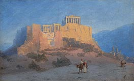 View of the Acropolis, undated by Aivazovsky | Painting Reproduction