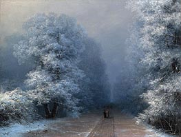 Winter Landscape, 1881 by Aivazovsky | Painting Reproduction