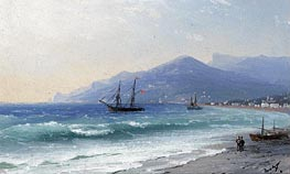 Crimean Coast, undated by Aivazovsky | Painting Reproduction