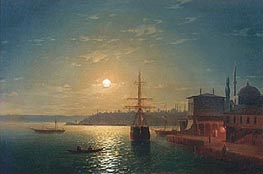 Golden Horn, Turkey, 1845 by Aivazovsky | Painting Reproduction