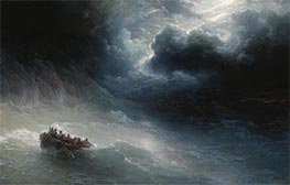 The Wrath of the Seas, 1886 by Aivazovsky | Painting Reproduction