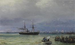 The Relief Ship: A Pair, 1892 by Aivazovsky | Painting Reproduction