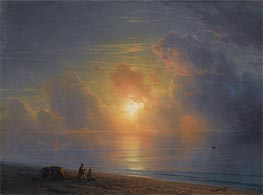 Sunset over the Crimean Coast, 1875 by Aivazovsky | Painting Reproduction