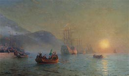 Columbus Sailing from Palos | Aivazovsky | Painting Reproduction