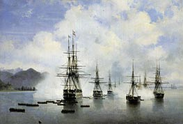 The Landing Raevsky in Subashi, 1839 by Aivazovsky | Painting Reproduction