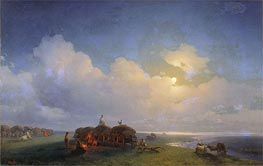 Chumaks on Rest, 1885 by Aivazovsky | Painting Reproduction