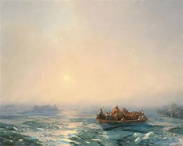 Ice on Dnieper, 1872 by Aivazovsky | Painting Reproduction