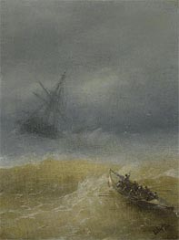 The Lifeboat, 1874 by Aivazovsky | Painting Reproduction
