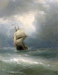 Ship at Sea, 1888 by Aivazovsky | Painting Reproduction