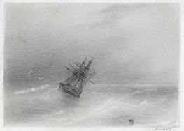 High Seas, Undated by Aivazovsky | Painting Reproduction