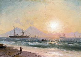 Watching Ships at Sunset | Aivazovsky | Gemälde Reproduktion