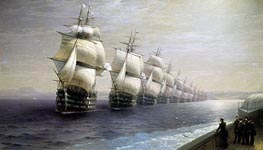 Review of the Black Sea Fleet | Aivazovsky | Gemälde Reproduktion