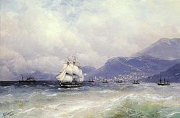 Russian and Turkish Shipping off Trabzon | Aivazovsky | Painting Reproduction