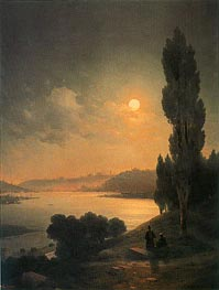 Constantinople, Moonlit View from Eyup | Aivazovsky | Painting Reproduction
