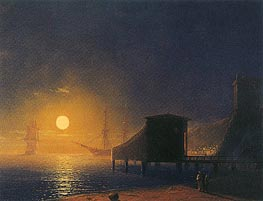 Moonlit Pier | Aivazovsky | Painting Reproduction