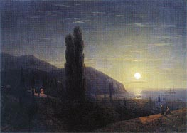 Crimean View in the Moonlight | Aivazovsky | Painting Reproduction