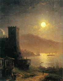 Genoese Tower off the Crimean Coast | Aivazovsky | Painting Reproduction