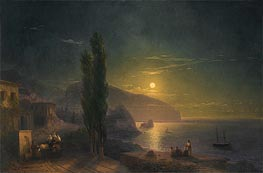 Ayu Dag under a Full Moon | Aivazovsky | Painting Reproduction