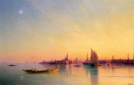 Sunset over the Venetian Lagoon | Aivazovsky | Painting Reproduction