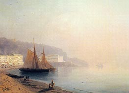 On the Beach at Sunset | Aivazovsky | Painting Reproduction