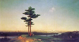 View of Moscow from the Sparrow Hills | Aivazovsky | Gemälde Reproduktion