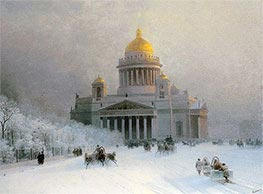 St. Petersburg: St. Isaac's Cathedral on a Frosty Day | Aivazovsky | Painting Reproduction
