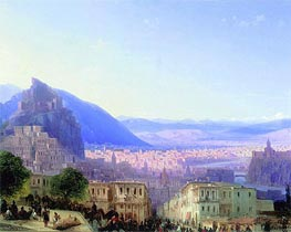 View of Tiflis | Aivazovsky | Painting Reproduction