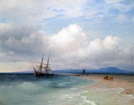 Shipping Along the Crimean Coast | Aivazovsky | Painting Reproduction