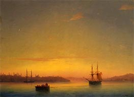 Constantinople at Dawn, 1881 by Aivazovsky | Painting Reproduction