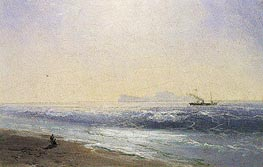 View of Capri, 1895 by Aivazovsky | Painting Reproduction