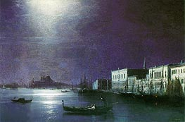 Venice by Night | Aivazovsky | Gemälde Reproduktion