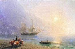 Loading Provisions off the Crimean Coast | Aivazovsky | Painting Reproduction