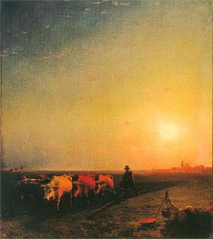The Ox Plough | Aivazovsky | Painting Reproduction