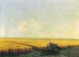 Harvest in the Crimea | Aivazovsky | Painting Reproduction