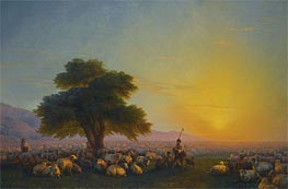 A Shepherd and his Flock in the Crimea | Aivazovsky | Painting Reproduction