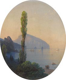 Ayu Dag in the Crimea, 1869 by Aivazovsky | Painting Reproduction