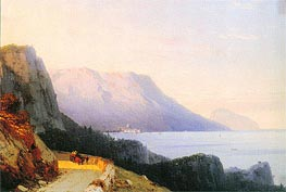 Ayu Dag in the Crimea, 1863 by Aivazovsky | Painting Reproduction