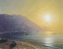 The Crimean Coast with Ayu Dag behind, undated by Aivazovsky | Painting Reproduction
