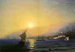 Yalta at Sunset, 1859 by Aivazovsky | Painting Reproduction