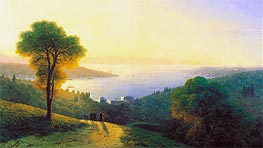 Constantinople from Topkapi, 1874 by Aivazovsky | Painting Reproduction