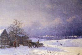 Moscow in Winter from the Sparrow Hills, 1875 by Aivazovsky | Painting Reproduction