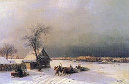 Moscow in Winter from the Sparrow Hills, 1872 by Aivazovsky | Painting Reproduction