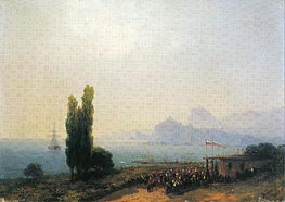 The Aivazovsky Estate at Sudak, an Imperial Welcome, 1867 by Aivazovsky | Painting Reproduction