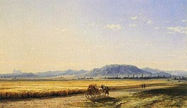 Horse and Cart across a Georgian Wheatfield, 1868 by Aivazovsky | Painting Reproduction