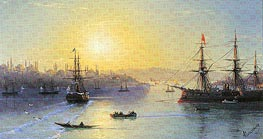 Constantinople, undated by Aivazovsky | Painting Reproduction