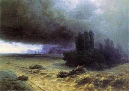 Flood in Sudak, 1897 by Aivazovsky | Painting Reproduction